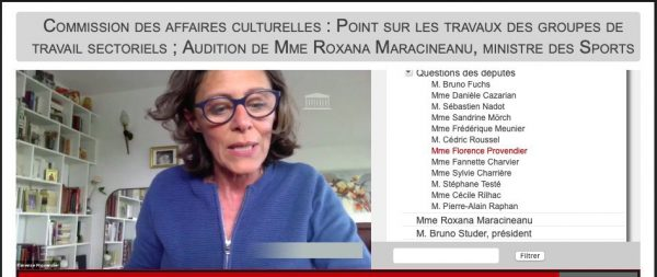 Audition Roxana Maracineanu ministre des Sports  e1595596160230